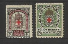 Red Cross Hungarian Stamps