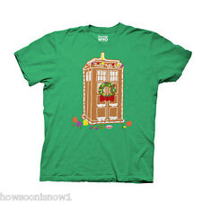WHOLESALE LOT OF 10 Doctor Who LICENSED Gingerbread TARDIS Green T-Shirt NEW MED