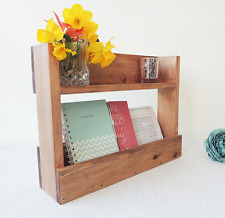 wooden shelf, hall letter rack, entryway tidy, rustic decor, mail holder,