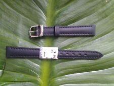 BRACELET MONTRE CUIR VÉRITABLE veau // MARQUE COBRA // NOIR / 12mm // REF.TV27