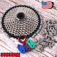 US KMC MTB Bike 11-40/42/46/50T Cassette Chain 8/9/10/11Speed Cassettes Sprocket