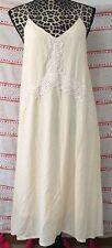 H M Womens A Line Ivory Romantic Spagetti Straped Dress Size 8