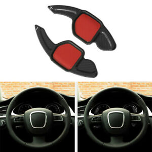 Steering Wheel Shift Paddle Shifter Extension Fit For Audi A4 S4 RS4 A5 S5 A6 S6