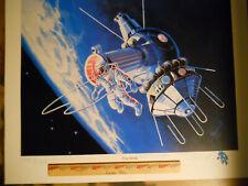 SPACE WALK ART ,FIRST MAN TO WALK IN SPACE. SOVIET COSMONAUT ALEXEI LEONOV