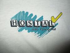 HOSTAL DEL QUIJOTE POLO SHIRT vtg Hostel Hotel Quixote Spanish Hispanic XL