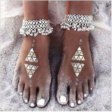 Jewelry Barefoot Tassel Bell Ankle Bracelets Foot Chain Silver Anklet