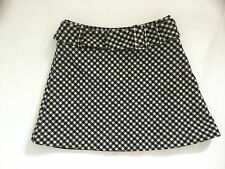 PER UNA M&S / MARKS & SPENCER - BLACK & WHITE WOOL CHECKED SKIRT – UK 8