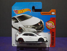 2017 Hot Wheels '16 HONDA CIVIC TYPE R, THEN AND NOW Series 1/10 Short Card.