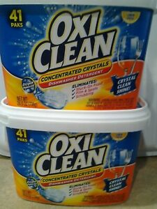 oxiclean dishwasher detergent concentrated crystals 41 pak tub (PACK OF 2)