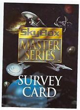 1994 Star Trek Skybox MASTER SERIES cards PROMO SURVEY card.