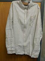 Scotch & Soda Mens LS XL White/ Blue Multi Shirt Cotton Ref HV13