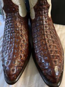 LOS ALTOS Genuine NILE CROCODILE HORNBACK BOOTS NEW! 12 M Like Tecovas Tony Lama