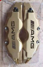 AMG Brake Caliper Cover Front Rear Gold 4pcs L+M For Mercedes-Benz E A B Class