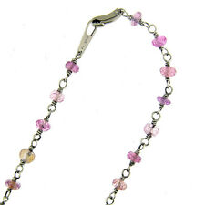 7.50 Ct Platinum 950 Pink Sapphire Women's Link Necklace