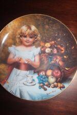 Indian Summer Collectors Plate Dish Childhood Almanac Sandra Kuck RECO Vintage