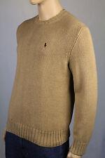 Polo Ralph Lauren XX-Large XXL Tan Crewneck Sweater Burgundy Pony NWT
