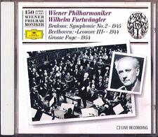 FURTWÄNGLER: BRAHMS Symphony No.2 BEETHOVEN Große Fuge WPO 150 CD Futwangler