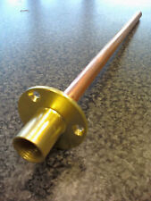 Garden Tap Through The Wall Flange with Fixing Plate 350mm Copper