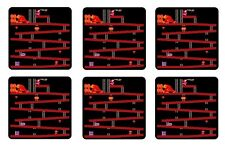 DONKEY KONG COASTERS 1/4 BAR & BEER SET OF 6