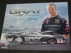 "2014 JONATHAN GRAY ""GRAY MOTORSPOTS"" CHEVY CAMARO PRO STOCK NHRA POSTCARD"