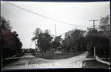 RENSSELAER Indiana ~ 1900's MILROY PARK~ WASHINGTON STREET ~ MONUMENT ~ RPPC