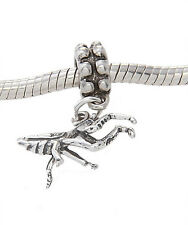 Sterling Silver Dangling Praying Mantis Insect Bead