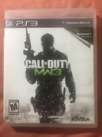 Modern Warfare 3 (Sony PlayStation 3, 2011) W/ No Manual