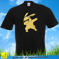 Dabbing Bunny Novelty T-Shirt Funny Hip Hop Dab Dance Christmas Gift YouTube Tee