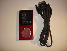 Microsoft Zune Red 8Gb.New Battery.