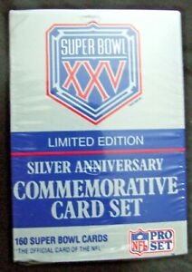 NFL Super Bowl XXV Limited Edition Silver Anniversary Commemorative 160 Card NEW