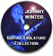 JOHNNY WINTER BLUES ROCK GUITAR TAB TABLATURE SONG BOOK SOFTWARE ANTHOLOGY CD