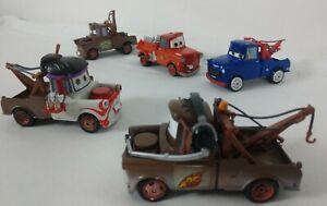 Lot of 5 - TOW MATER Variations - Disney Pixar Cars - Diecast Metal 1:55