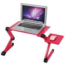 Adjustable Laptop Desk with Cooling Fan Ergonomic Portable Bed Tray PC Table