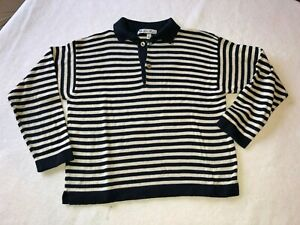 "Loro Piana Kids Long Sleeve Striped 100% Cotton Shirt 4Yr/104cm/41"""