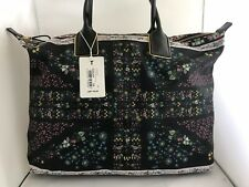 Ted Baker NEW Genuine  Unity Flag Large Shoulder Tote Hand Bag Black Floral