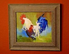 Original  Oil Painting /Framed Art / Rooster