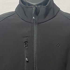 Reebok 7209 Ladies Black Softshell Playshield Zip Up Jacket Graphite - Large