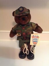 NEW MILITARY US ARMY AIR FORCE TEDDY BEAR FORCES OF AMERICA PLUSH  NWT 11""