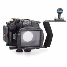 Meikon 40m Underwater Diving Camera Housing case for Sony HX90, Diving handle