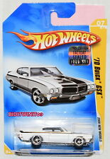 HOT WHEELS 2009 NEW MODELS '70 BUICK GSX #07/42 WHITE FACTORY SEALED