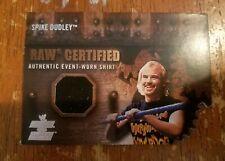 2002 FLEER WWE RAW CERTIFIED SPIKE DUDLEY EVENT WORN SHIRT CARD