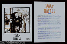 JOHN MAYALL-Promo Media Package w/Rare Autographed 8x10 Photograph-Blues