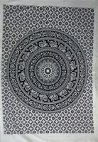 Tapestry Elephant Mandala White Wall Hanging Bohemian Cotton Poster Home Decor