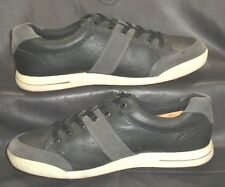 ECCO black leather gray suede Golf oxfords lace ups Men's shoes size EUR 43