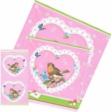 Towels Paper Bird Robin Heart Paper Napkins Bird Such To Beauty