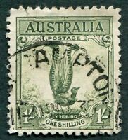 AUSTRALIA 1932 1s green SG140 used NG Superb Lyrebird #W36