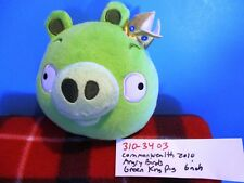 Commonwealth Rovio Angry Birds Talking Green Pig King 2010 plush(310-3403)