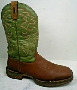 Rebel by Durango Mens Coffee & Cactus Western Work Boots DB5416 size 10.5 D