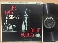 Billie Holiday The Lady Sings VG DECCA ORIG 1ST PRESS BLACK LABEL MONO DG