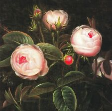 """Greeting Card - Sympathy - """"PINK ROSES"""" - by Johan Laurents Jensen!"""